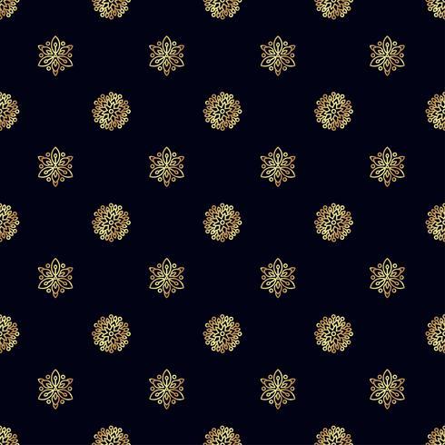 Naadloos patroon met gouden bij