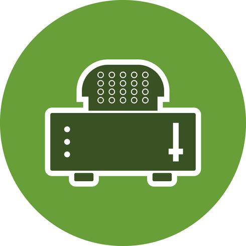 Slice Toaster Vector Icon