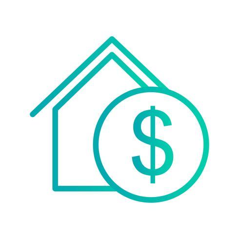 Icono de Vector de bienes raíces