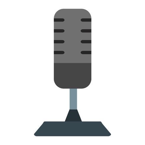 Icono de vector de micrófono