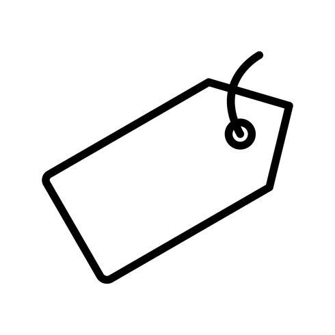Icono de etiqueta de vector
