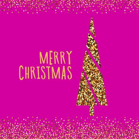 Weihnachtsfahne mit Weihnachtskiefer.