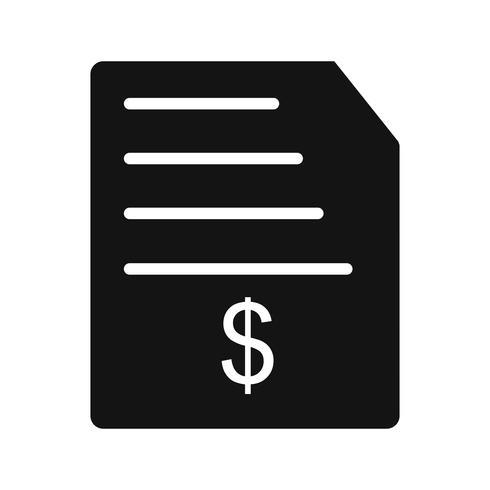 Ícone de vetor de factura