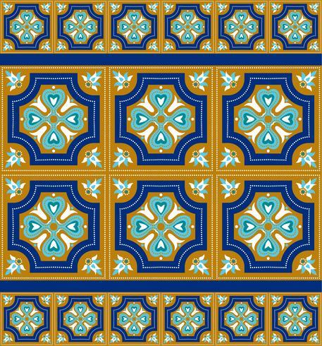 Carreaux d'azulejo portugais. Patte sans couture magnifique bleu et blanc.