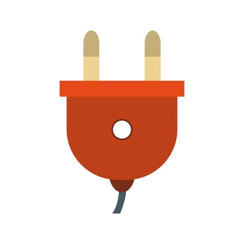 Icono de vector de enchufe