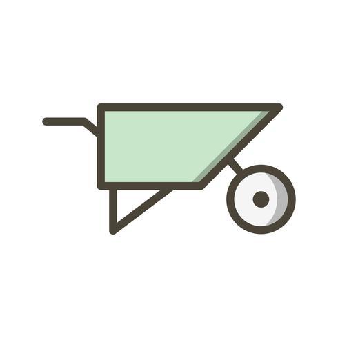 Ícone de vetor de carrinho de mão