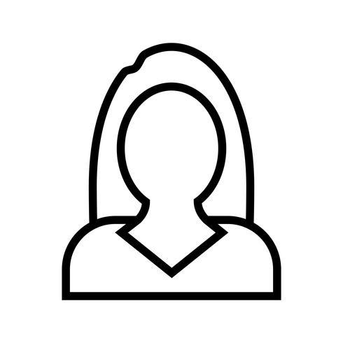 Ícone de vetor de mulheres de negócios
