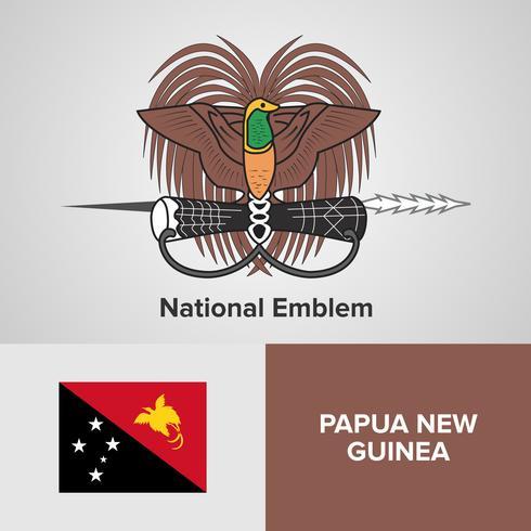 Emblema Nacional, Mapa y Bandera vector