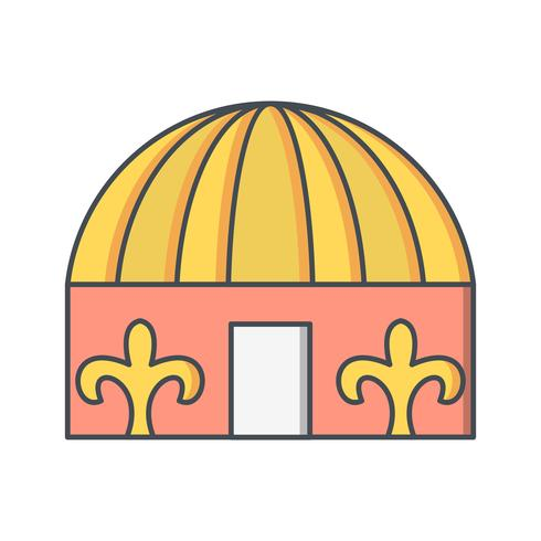 Yurt Vector Icon