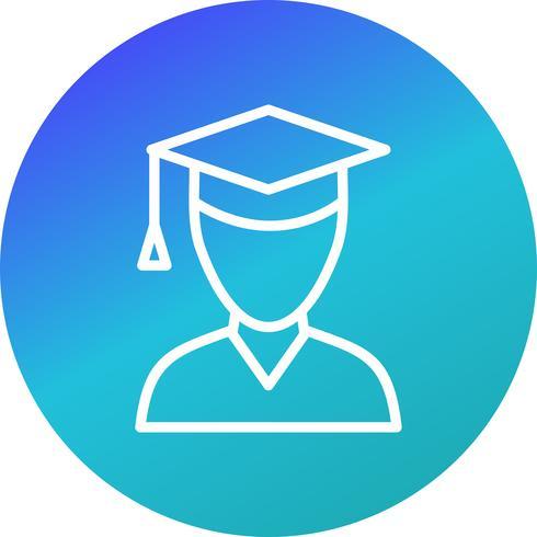 Vector ícone de estudante do sexo masculino