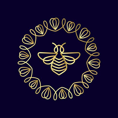 insecto. Badge Bee para la identidad corporativa