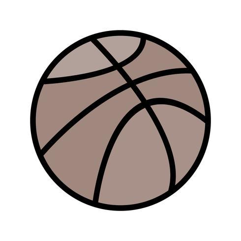 Icono de la bola de la cesta del vector