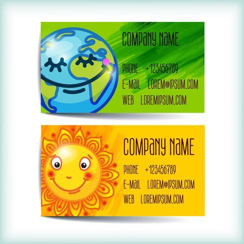 Set modern business card template vector