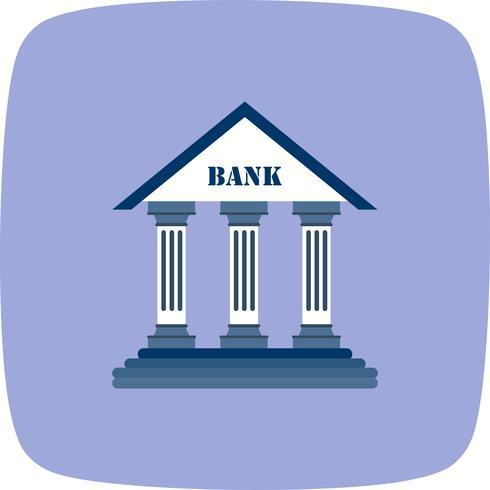 Ícone de vetor de banco