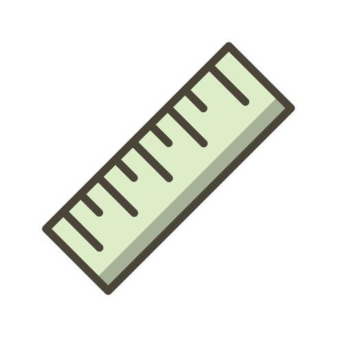 Icono de Vector de regla