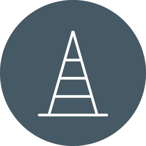 Icono de vector de cono