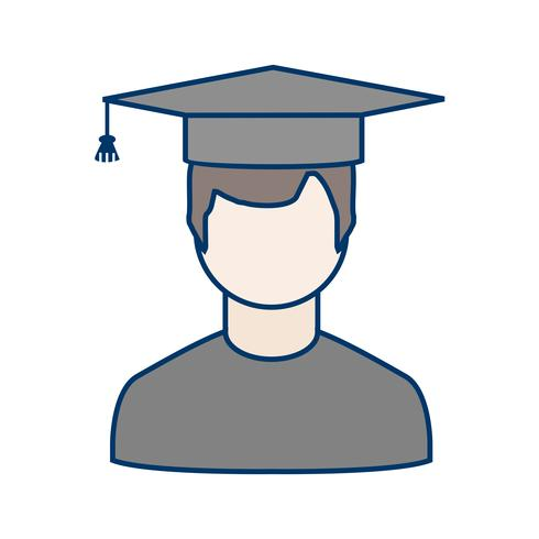 Vector Male Student Icon