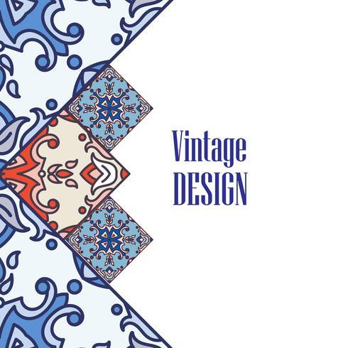 Os azulejos da bandeira no estilo português das telhas para o negócio. vetor