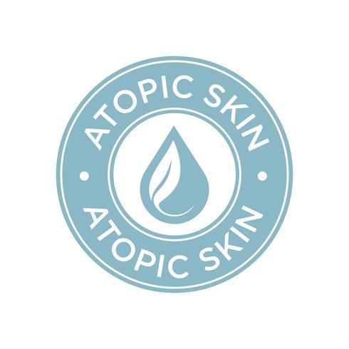 Icono de piel atópica