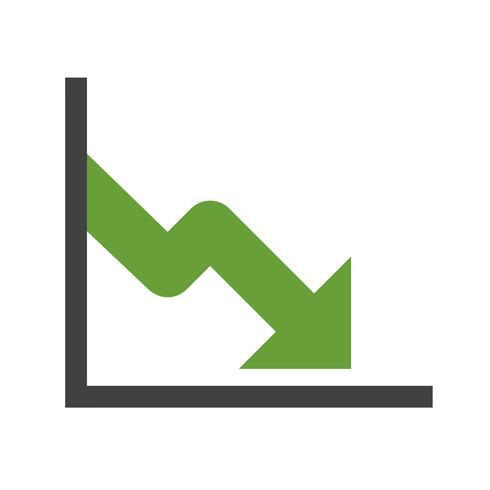 Ícone de vetor de queda de negócios