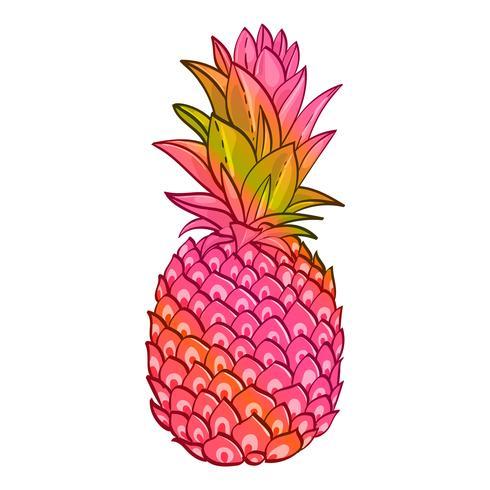Cartel de moda creativa del arte de la piña. vector