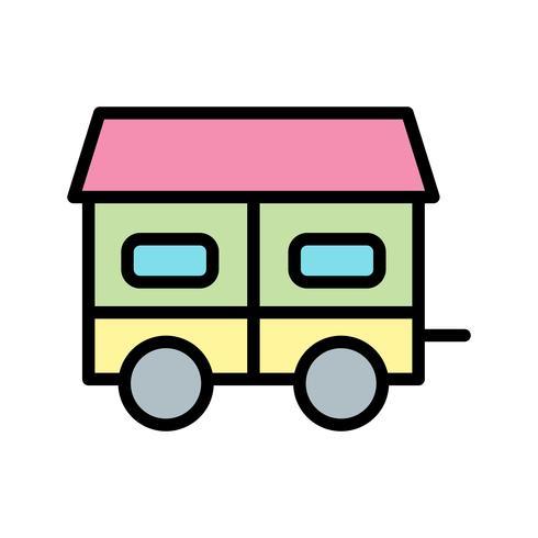 mobil hus vektorikonen