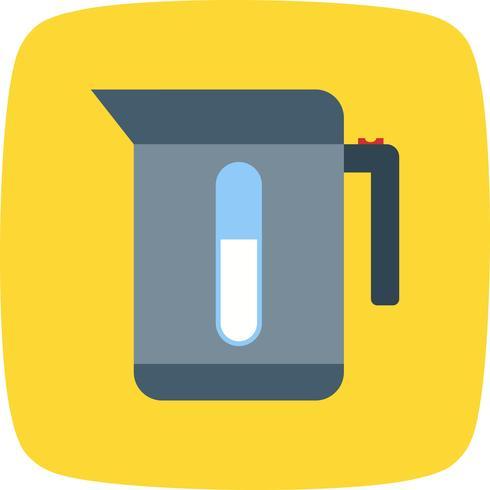 Wasserkocher-Vektor-Symbol