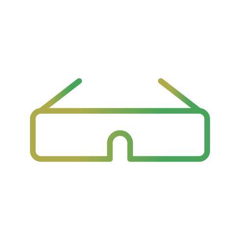 Ícone de vetor de óculos 3D
