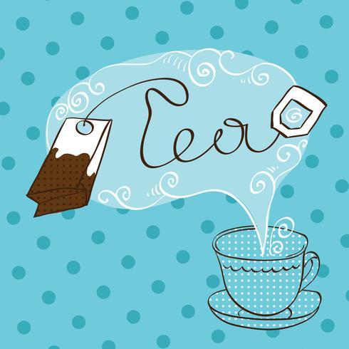 Modelo de design de hora do chá