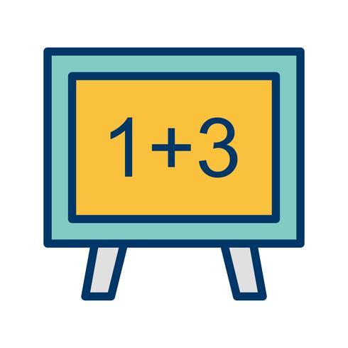 Icono de matematicas vectoriales vector