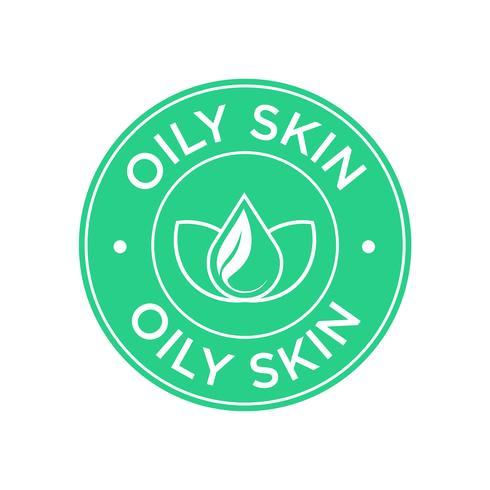 Oily skin icon vector