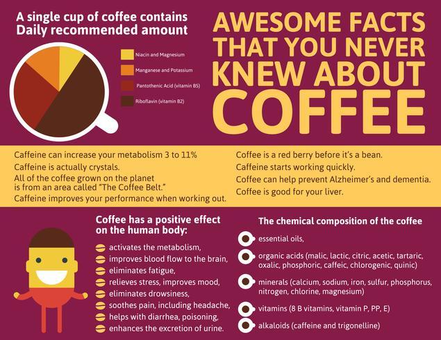 Kaffe Infographic av världen
