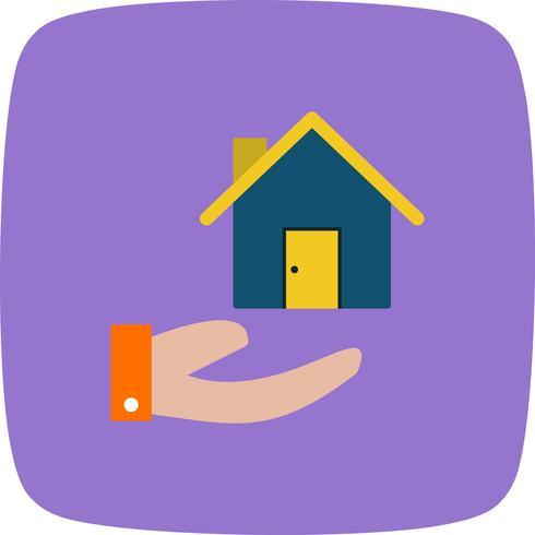 Casa na mão ícone Vector