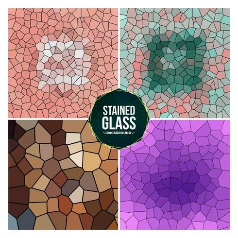 Conjunto de fundo multicolorido vitrais quebrados