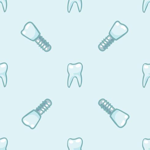 Denti bianchi su sfondo blu. vettore