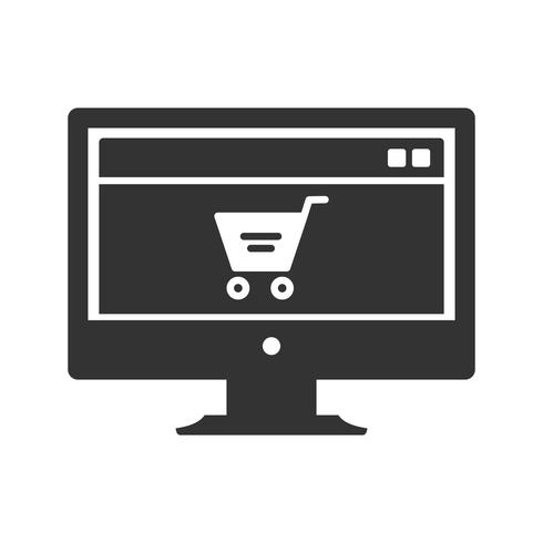 Icônes de glyphe de page marketing vecteur