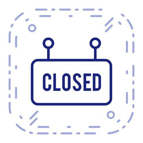 Ícone de sinal fechado de vetor