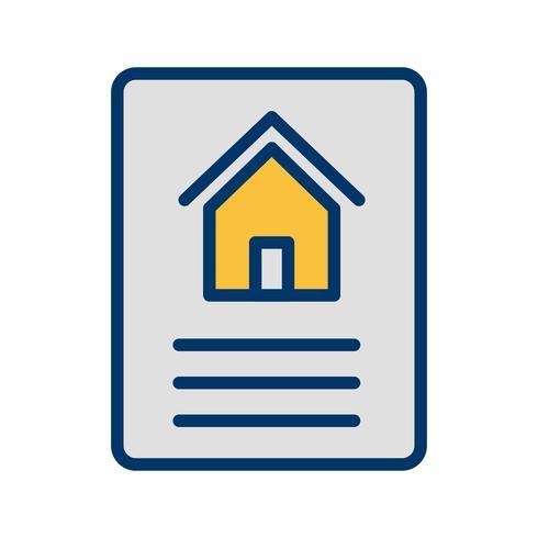 Ícone de vetor de documento de casa