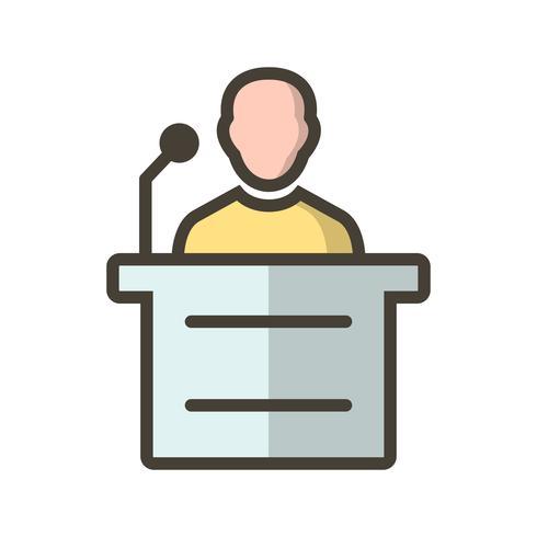 Icono de vector de discurso