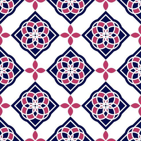 Azulejos portugueses. Padrões sem emenda lindos azuis e brancos. vetor