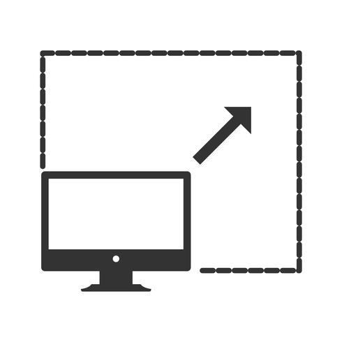 Iconos de glifo computacional escalable vector