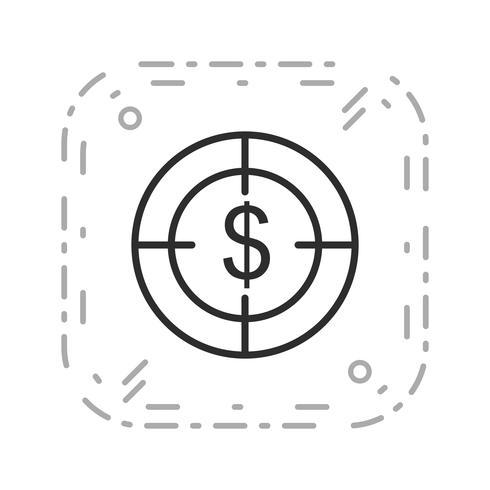 Icona di vettore di obiettivo