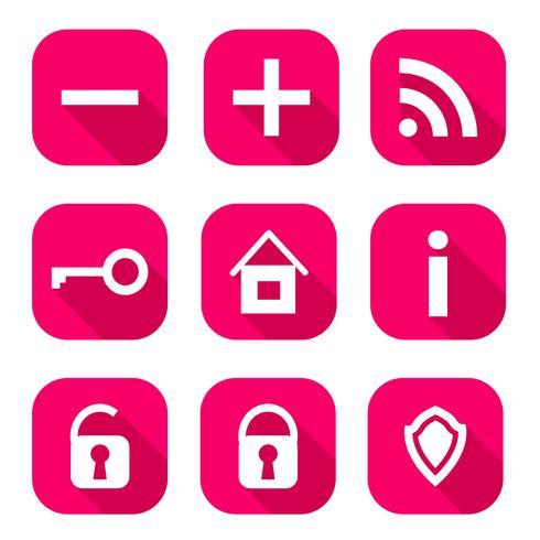 ícones da web vetor