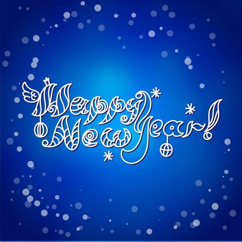 Tarjeta de feliz año nuevo vector