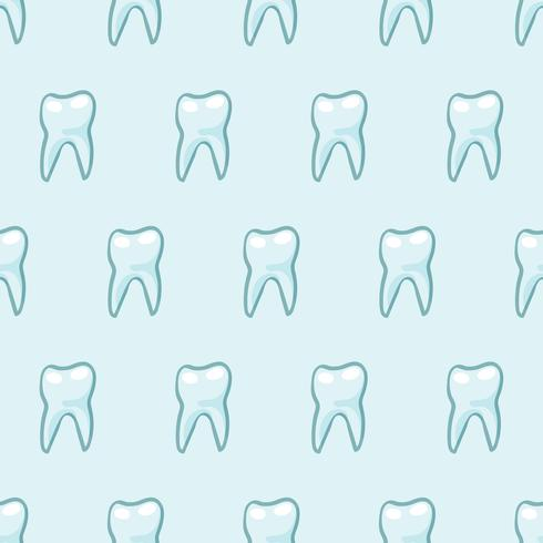 White teeth on blue background.  vector