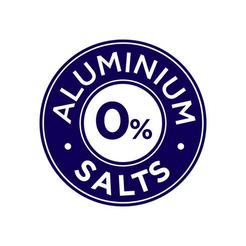 Aluminium salts free icon vector