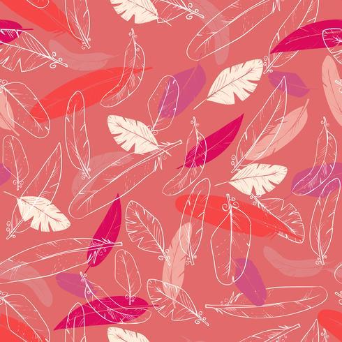 sömlöst mönster med ravens s fjädrar. pastellfärg