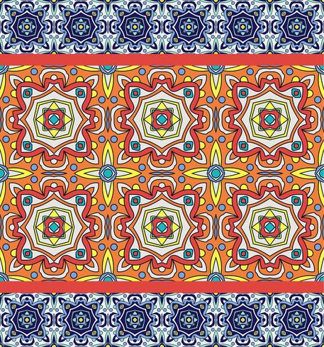 Portuguese azulejo tiles. Blue and white gorgeous seamless patte vector