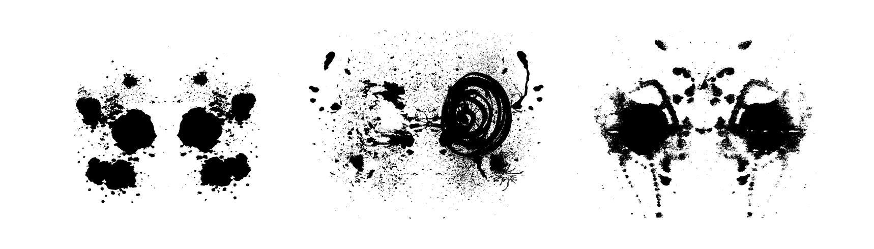 Rorschach Inkblot-Test symmetrische abstrakte Tintenflecken