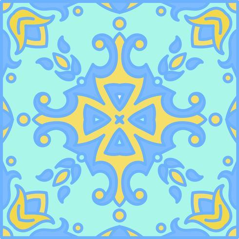 Azulejos de azulejo portugués. Azul y blanco hermosa patte inconsútil vector